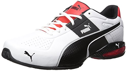 PUMA Men's Cell Surin 2.0 FM Sneaker, White Black, 9 M US