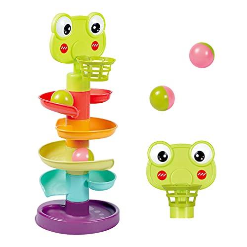 YGJT Giocattoli Bambini 9 Mesi, Palla Drop Giochi Rotolo Vorticoso Torre Rampa, Giocattoli di Sviluppo per Bambini Piccoli Regalo di Compleanno 1-3 Anni