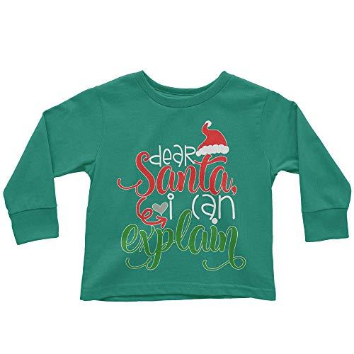 HARD EDGE DESIGN Toddler's Dear Santa I can Explain Long Sleeve T-Shirt