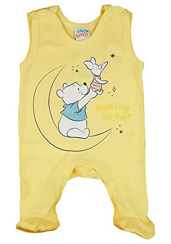 Babybogi Baby Strampler Disney Winnie The Pooh ärmellos Hose Babybekleidung Junge Mädchen 56 62 68 Spiel-Anzug 100% Baumwolle Gelb/Weiß Einteiler (68)