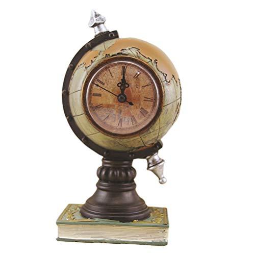 MILISTEN Esfera Globo Vintage Reloj Esférico Astrolabio Brújula Vintage Escultura de Escritorio sin Batería Verde