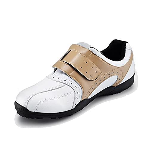 WUDAXIAN Zapatos de Golf Ligeros para Hombres, Zapatillas de Deporte para Exteriores, Impermeables, con Fondo Suave, sin púas, Antideslizantes para Golf