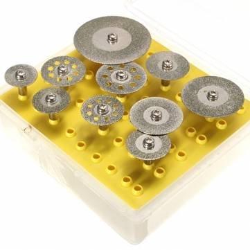 10 stks Diamant Snijschijven Cut-off Wiel Set Voor Dremel Rotary Tool