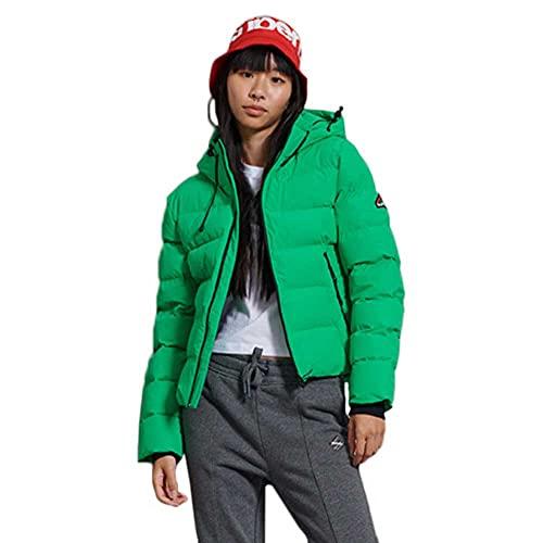 Superdry Spirit Sports Puffer Chaqueta, Verde Brillante, M (Talla del Fabricante:12) para Mujer