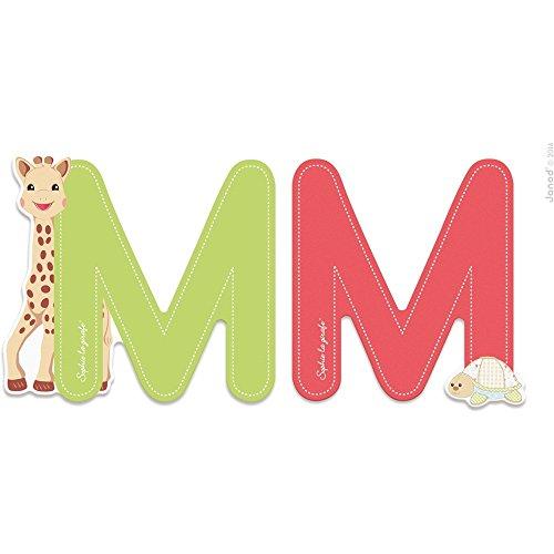 Janod LETRE Serie Sophie LA Girafe (Bois) - M (J09557), Multicolore (1