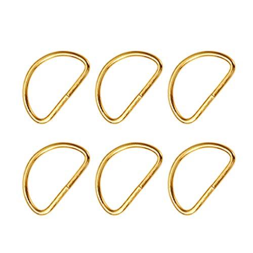 Healifty - Lote de 20 anillos de metal para manualidades, collar de perro, arnés y correa de tela,...