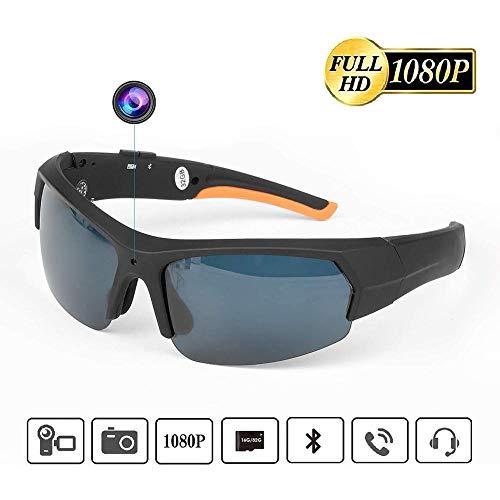 pologyase Tragbare Bluetooth Sonnenbrille 1080p Kamera Brille Mini DV 1080P HD Videorekorder Gläser Bluetooth Kopfhörer Händefrei Fahrbrille Sportbrillen Radsport Sonnenbrille