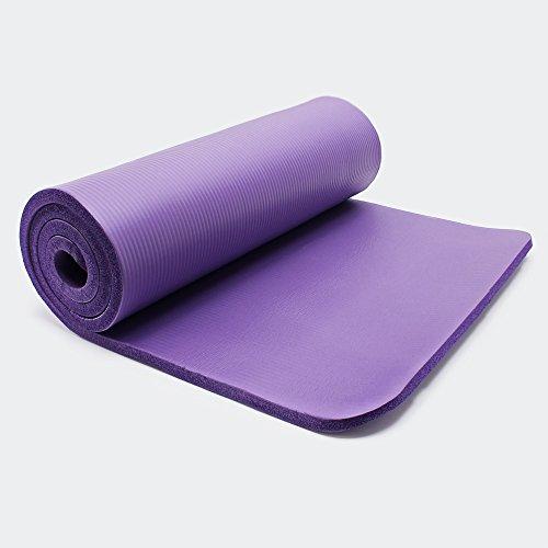 Yogamatta 190 x 100 x 1,5 cm träningstur fitness pilates träning golvmatta halkfri extra tjock