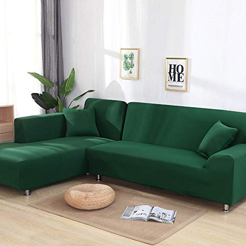 chenhe Funda de sofá Impermeable Funda,Fundas de sofá geométricas elásticas para Sala de Estar de Esquina elástica para sofá de Dos plazas en Forma de L,antipolvo-A14_3 Personas(190-230cm/75-91)