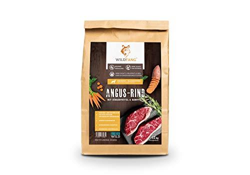 Wildfang® Hundefutter Trocken - 6kg - Getreidefreies Hundefutter – Angus Rind mit Süsskartoffel & Karotte | Ideal für ausgewachsene Hunde