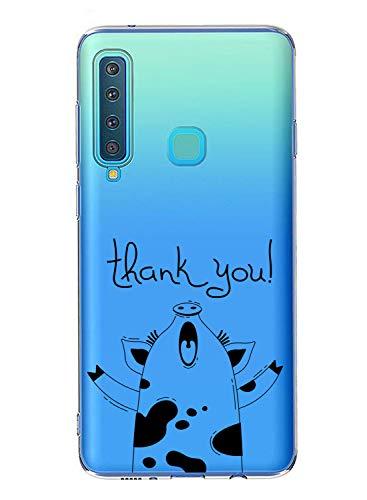 Oihxse Case Transparente Suave TPU Compatible con Samsung Galaxy C8/J7 Plus Funda [Lindo Caricatura Flor Serie Dibujos] Cristal Protector Carcasa Anti Rasguños Bumper Cover-Cerdo