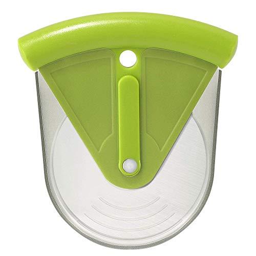 YeVhear - Disco de pizza con protector de cuchilla, hoja superafilada de acero inoxidable de 3 pulgadas, utensilios de cocina para pasteles, frutas, verduras, verde