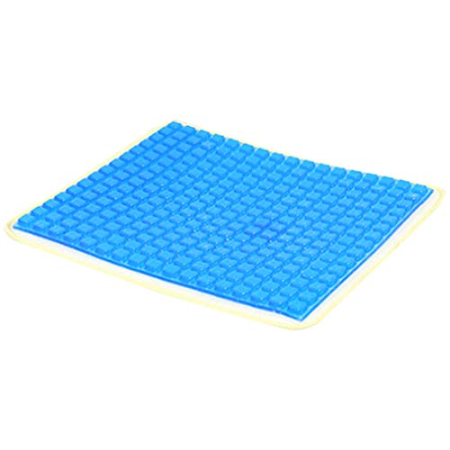 SNOWINSPRING Blue Large Square Gel Cushion, Multifunctional Breathable and Cool Car Gel Cushion, Office Chair Cushion
