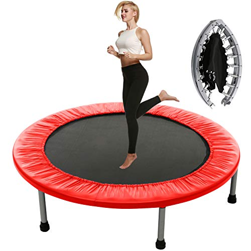 Plohee Fitness Workout Mini Rebounder Trampoline Covered Bungee for Indoor Garden Workout Cardio Exercise (Color4)