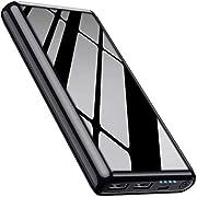 Feob Power bank 26800mah【Fresco nero lucido】Caricabatterie Portatile Carica Veloce per 2 dispositivo contemporaneamente,Compatta CaricaBatteriePortatili per Smartphone, Tablet e Altri