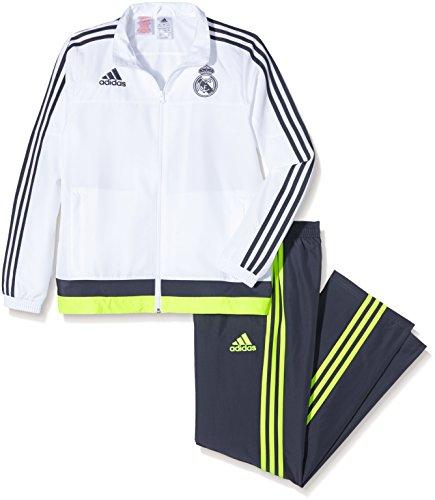 adidas Kinder Real Madrid Präsentationsanzug - weiß Trainingsanzug, White/Deespa/SYELLO, 176