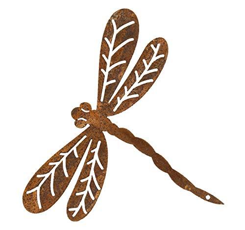 Manufaktur-Lichtbogen Rost Libelle mit Schraube zum einschrauben Edelrost Gartendeko Metall