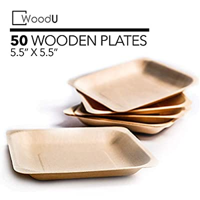 Disposable Wooden Plates