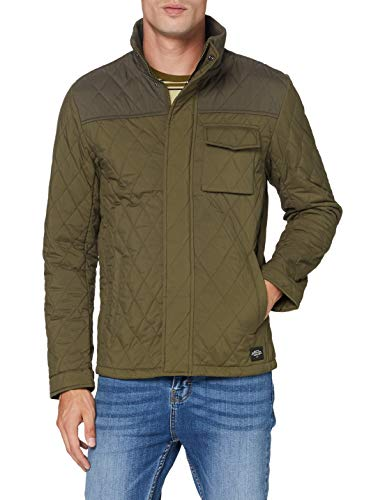 Scotch & Soda Mens Mittellange Steppjacke Quilted Jacket, Military 0360, L