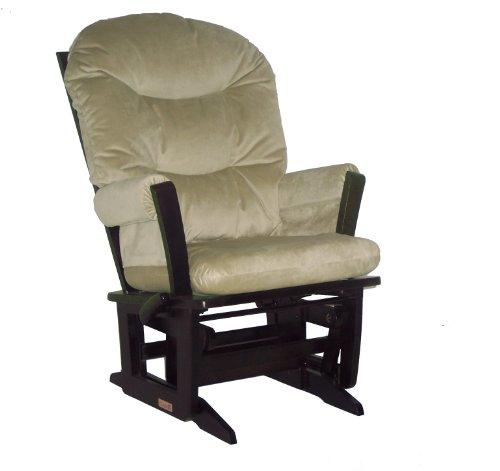 Hot Sale Dutailier Multiposition, Recline, Round Back Cushion Modern Glider, Sage Green Microfiber