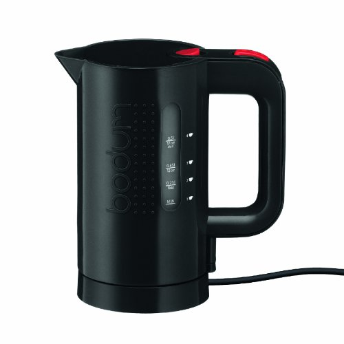 Bodum Bistro Electric Water Kettle, 17 Ounce, Black