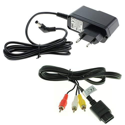 Ladegerät + Videokabel für Nintendo Super Nintendo/Super Nintendo Entertainment System (SNES) / Super Famicom von Weiss - More Power +