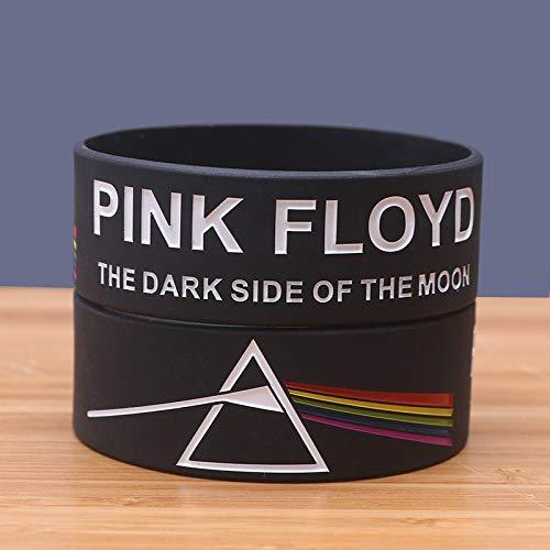 Xlin Pulsera Pulsera De Silicona Banda De Rock Pink Floyd
