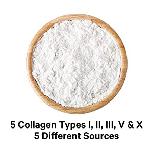Codeage Multi Collagen Protein Powder Peptides, Hydrolyzed, Type I, II, III, V, X Grass Fed All in One Super Bone Broth and Collagen Supplement, Non-GMO, 8.9 Ounces