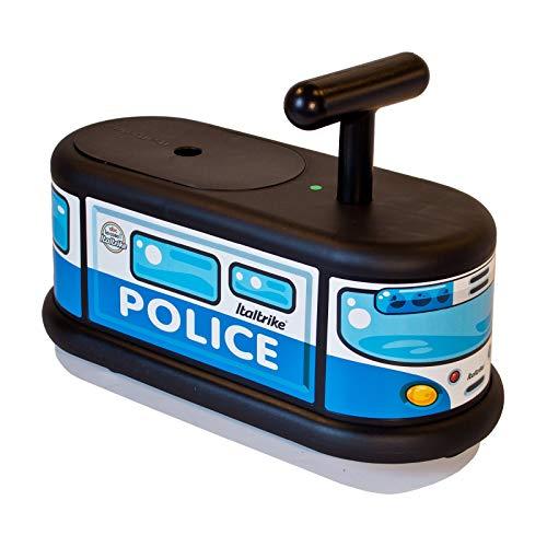 Italtrike - Porteur La Cosa - Camion de Police avec Coffre - Silencieux, Compact, Stable, Multi-Directionnel - Idéal Appartement - Fabriqué en Italie - Dès 12 Mois