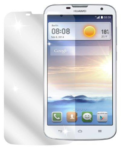 Ecultor I 6x Schutzfolie klar passend für Huawei Ascend G730 Folie Bildschirmschutzfolie