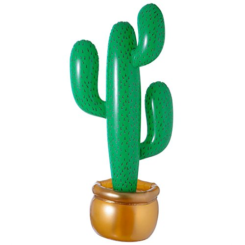 Amakando Aufblasbarer Kaktus / Party Dekoration für Cowboys und Western