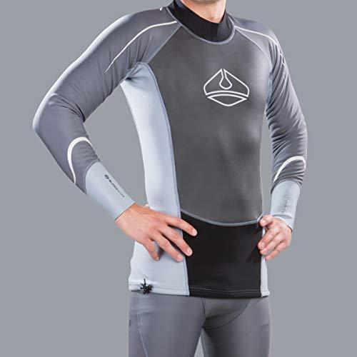 Lavacore - Camiseta de manga larga para hombre, ideal para kayak, canotaje, canoa, rafting, natación, SUP, kitesurf, M/L