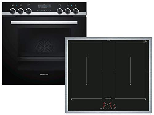 Siemens PQ561DB00 Einbauherd-Set mit Induktions-Kochfeld, SCHOTT CERAN® - Schwarz