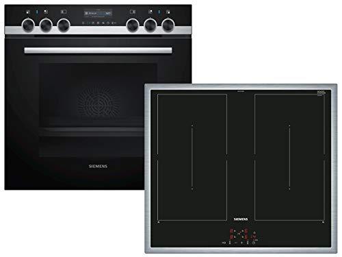 Siemens PQ561DB00 iQ500 Herdset, edelstahl/schwarz, Home Connect