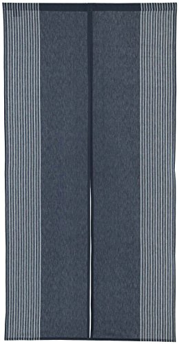 Vertical Stripe Cotton Cloth Japanese Noren Curtain Tapestry (Navy Blue)