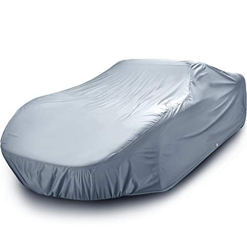 iCarCover 18-Layers All Weather Waterproof for Automobiles Snow Rain Dust Hail Protection Full Exterior Indoor Outdoor Coupe Sedan Hatchback Auto Vehicle Durable Custom Car Cover - Cars Up to 195'