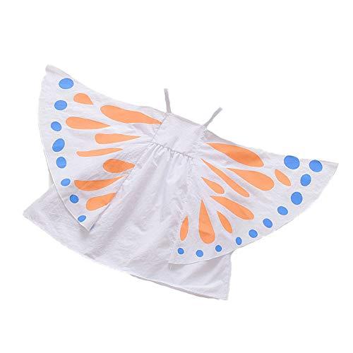 Vestido de alas de Mariposa Bebé Niños Niñas, Chaleco sin Mangas con Correa Vestidos de tutú para cumpleaños Fiesta de Disfraces de Halloween (White, 100)