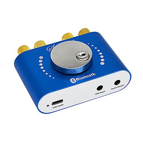 Folewr Mini Bluetooth amplificador de potencia receptor de audio inalámbrico con fuente de alimentación 12V/24V 5A con entrada AUX/USB/Bluetooth