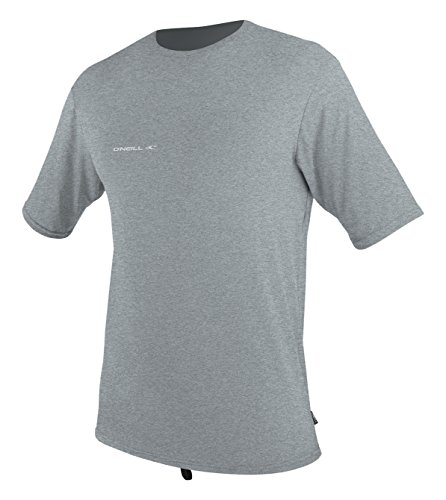 O'Neill Men's Hybrid UPF 50+ Short Sleeve Sun Shirt, CoolGrey,Large