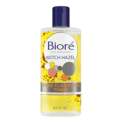 Bioré Pore Clarifying Toner with 2 Percent Salicylic Acid for Acne and Balanced Skin Purification, Witch Hazel, 8 Fl Oz