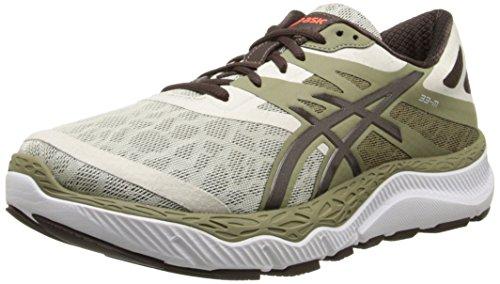 ASICS Men's 33-M Running Shoe, White/Flash Yellow/Navy,10 M...