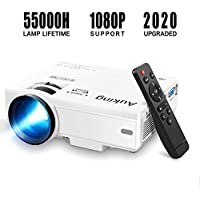 AuKing M8-F 2600-Lumens LCD Portable Projector With Full HD