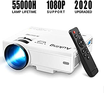 AuKing M8-F 2600-Lumens 1080P Full HD LCD Portable Projector