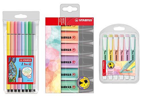 STABILO BOSS ORIGINAL Textmarker Pastel Fasermaler & Marker (20er Pack)