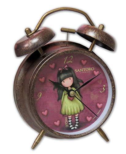 Santoro-London-Despertador Campanas Gorjuss Heartfelt, color cobre, RD-15-G