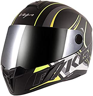 Vega Evo BT Track Dull Black Neon Yellow Helmet- M