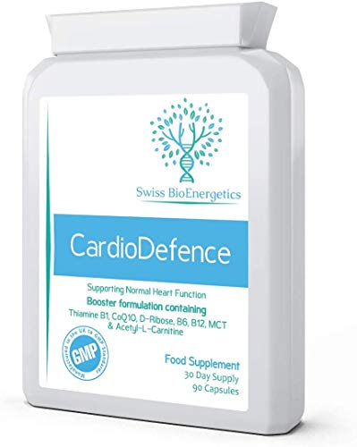 CardioDefence – 90 Capsules – a Precise Balance of CoQ10, D-Ribose, Acetyl L-Carnitine, B Vitamins and MCT to contribute to The Normal Function of The Heart and Reduce Tiredness and Fatigue