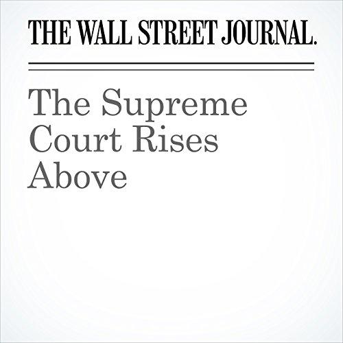 The Supreme Court Rises Above copertina