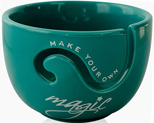 Ceramic Yarn Bowl for Crochet and Knitting Accessories - Best Yarn Holder - Fits...
