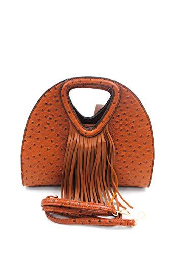 Damen Schultertasche aus Synthetik mit Schulterriemen für Damen – Gepäcktasche 9755 (gelb)